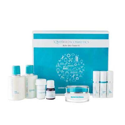 Activ-Skin Travel Kit + Moisturizing Balance: Feszesítő csomag kókuszolaj tartalmú krémmel